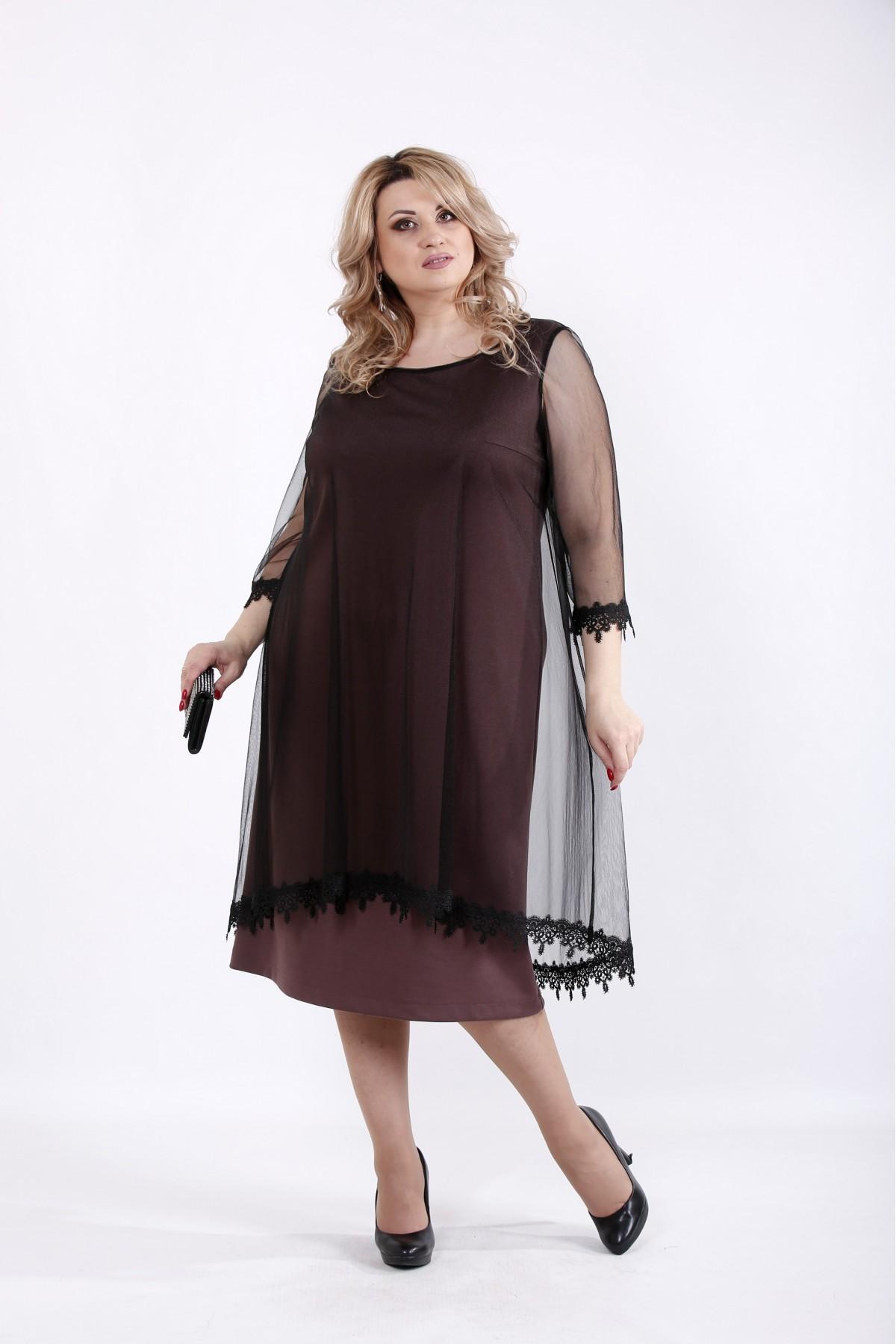 6e48a377235b35 Купити Бісквітне плаття з органзой   01063-3 ♥ Гаррі Шоп