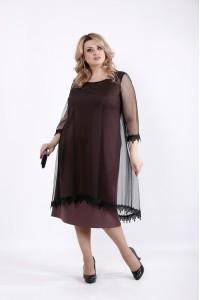 Фото Бісквітне плаття з органзой   01063-3