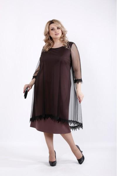 Фото Бисквитное платье с органзой | 01063-3