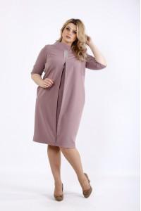 Фото Бисквитное платье до колена | 01070-2