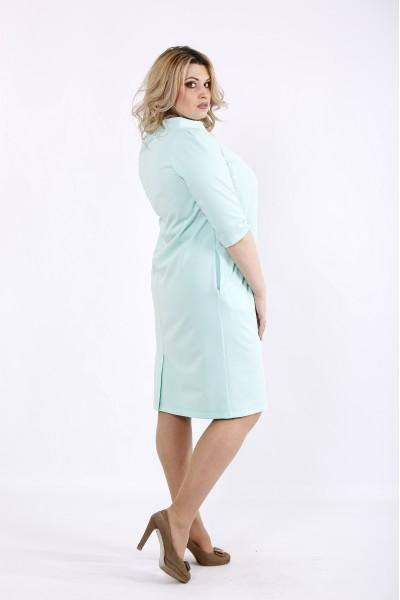 Фото Мятное нежное платье | 01070-3