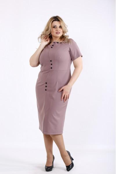 Фото Бисквитное платье с коротким рукавом | 01072-1
