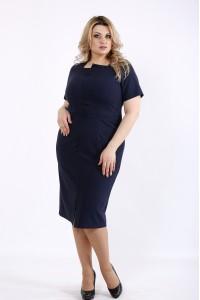 Фото Синее простое платье | 01072-2