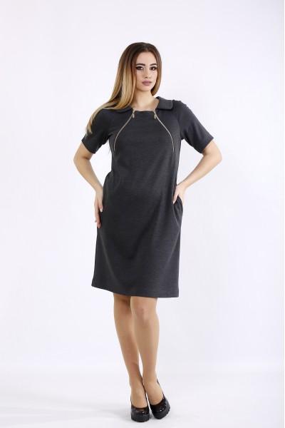 Фото Темное платье выше колена | 01075-1