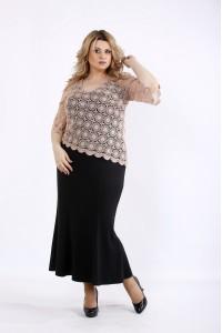 Фото Довга сукня з макраме | 01077-1