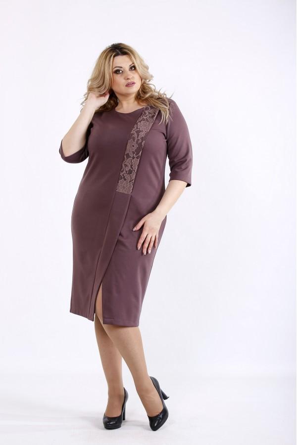 Фото Бисквитное платье с разрезом   01080-2