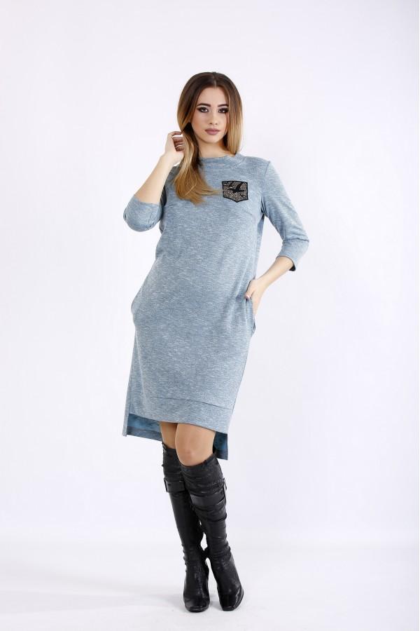 Фото Бирюзовое платье из ангоры | 01086-1