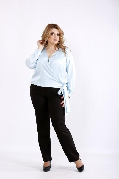 Фото Голубая шелковая блузка | 01083-2