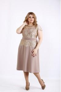 Фото Бежевое весеннее платье | 01092-2