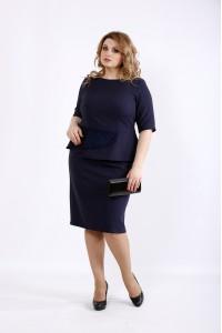 Фото Синее платье из костюмки | 01097-1