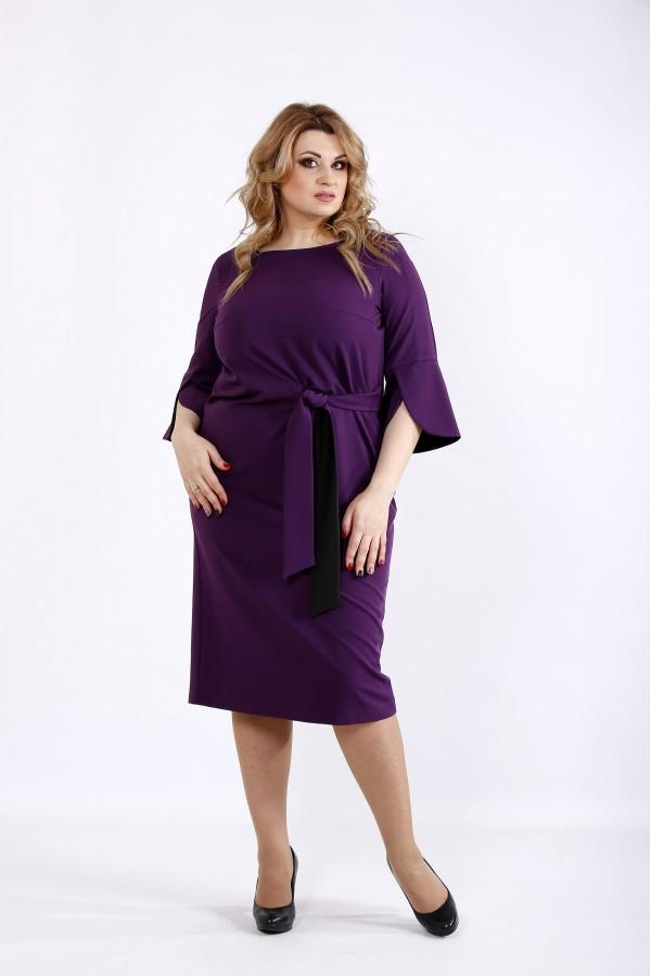 Фото Баклажанное практичное платье | 01098-3