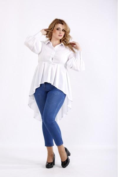 Фото Белая блузка из поплина | 01103-2