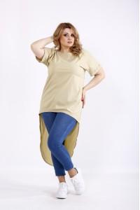 Фото Горчичная блузка-туника | 01104-2