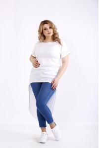 Фото Белая блузка с коротким рукавом | 01104-3