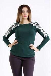 Фото Зеленая блузка с длинным рукавом | 01105-1