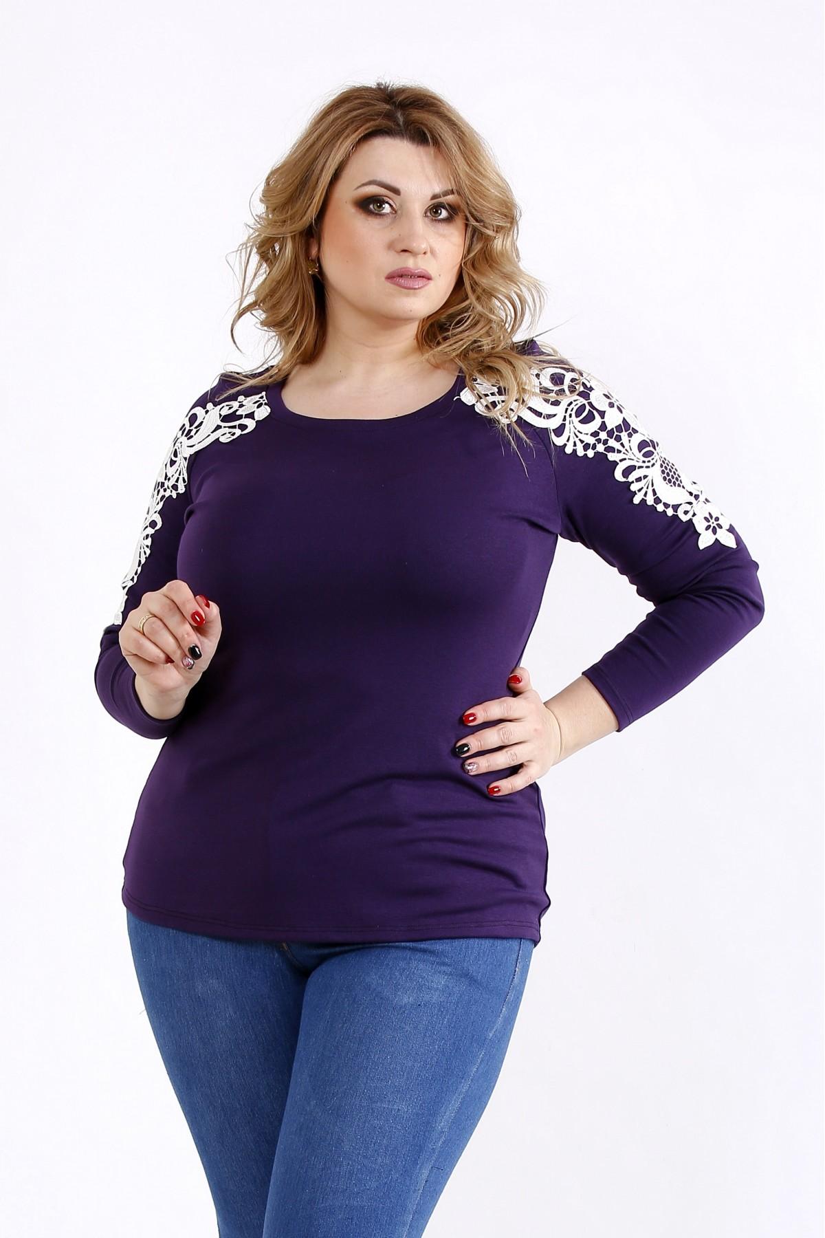 2692af9d89d Купить Фиолетовая блузка с кружевом