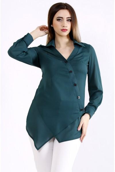 Фото Красивая зеленая блузка-рубашка | 01107-1