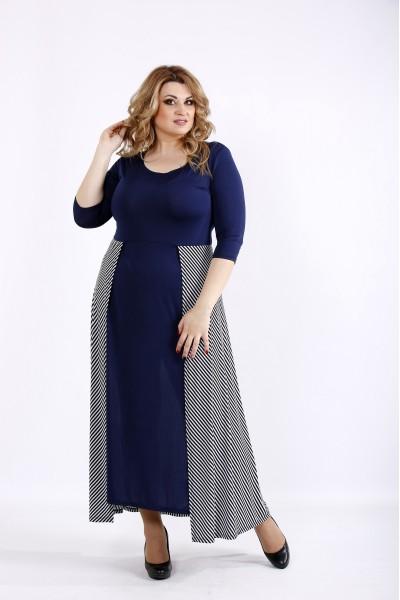 Фото Синее платье в пол | 01108-2