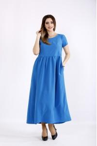 Фото Голубое платье в пол | 01110-1