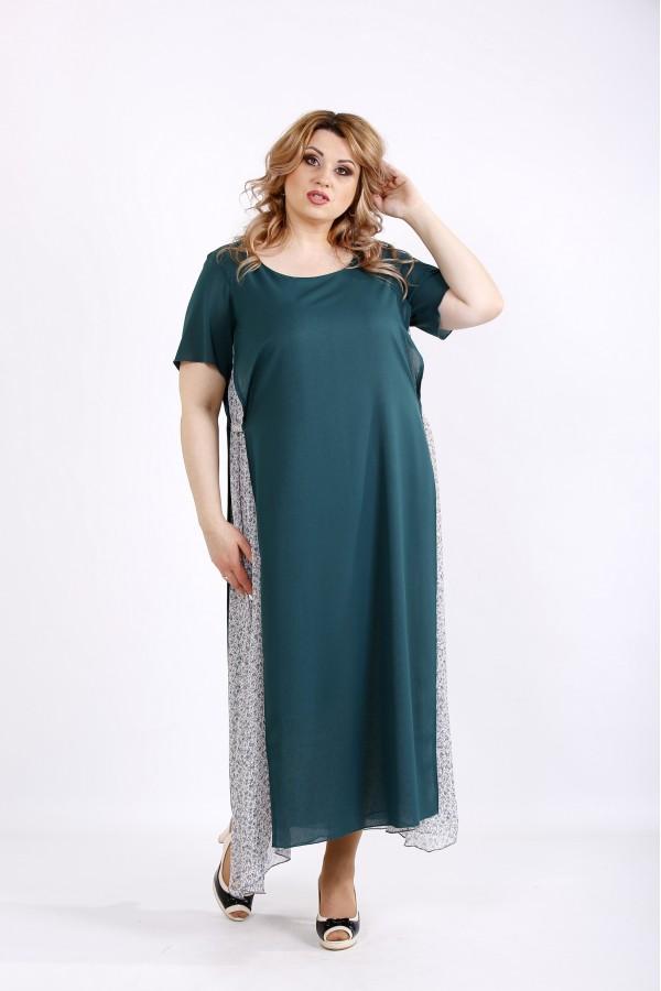 Фото Зеленое макси платье | 01118-2