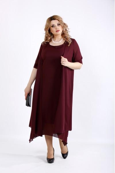 Фото Костюм з креп шифону: плаття і накидка | 01119-2