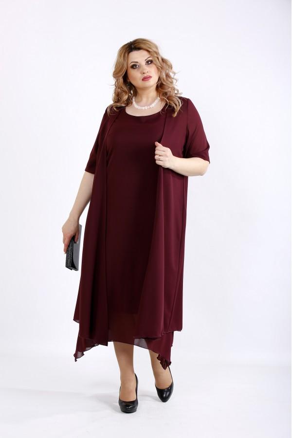 Фото Костюм из креп шифона: платье и накидка | 01119-2