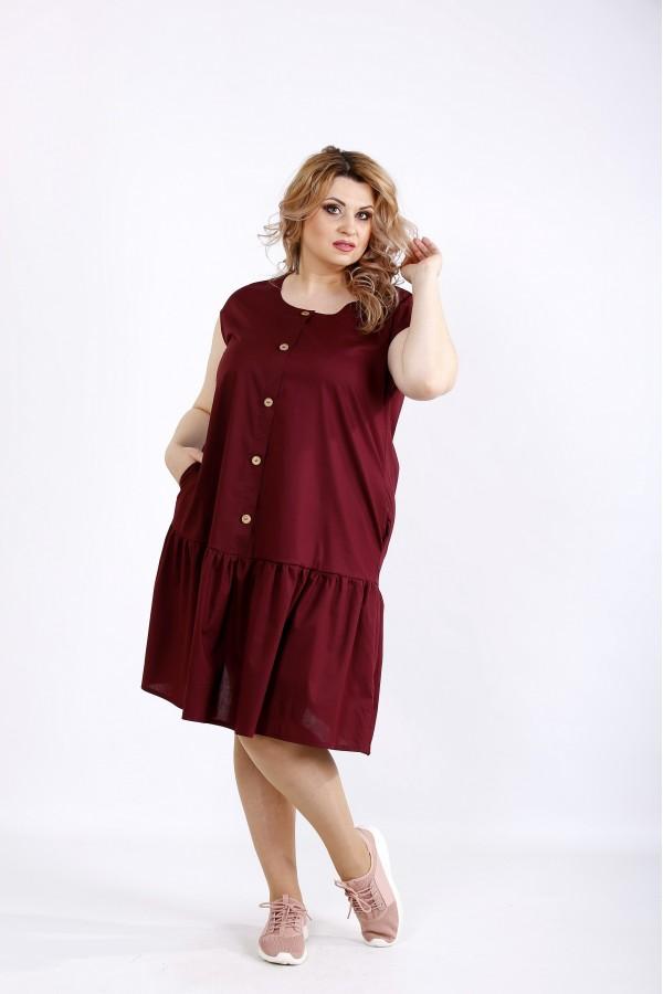 Фото Сливовое платье до колена | 01121-2
