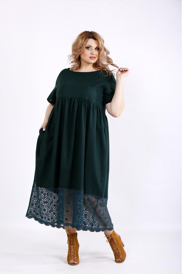 Фото Зелена сукню максі   01122-2