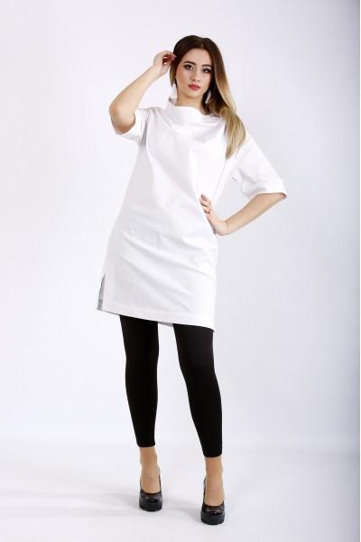 Фото Белая блузка-туника | 01124-1