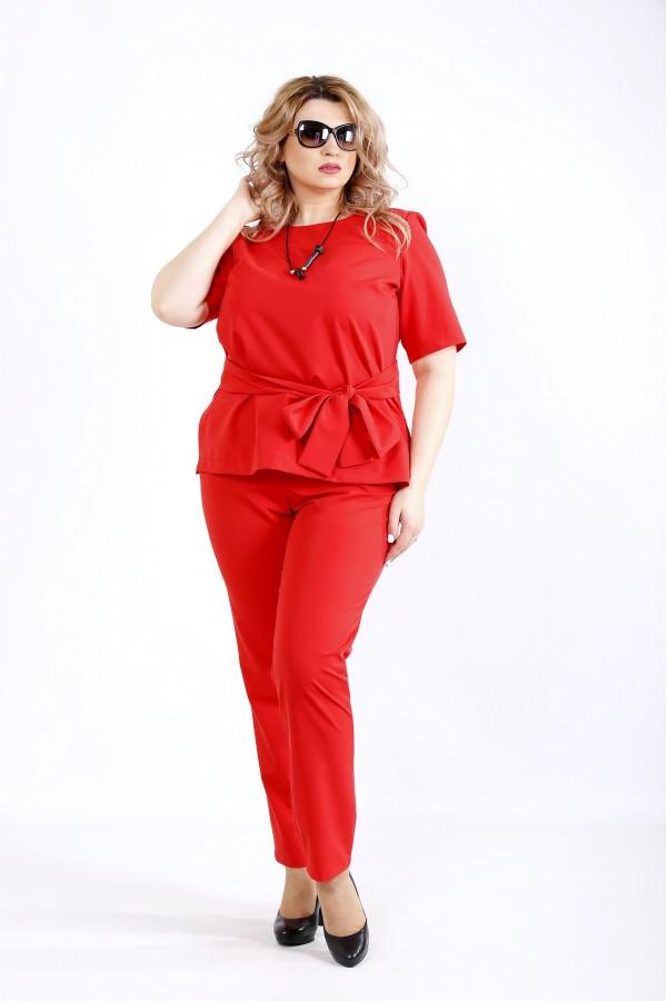 Фото Красный строгий костюм | 01134-2