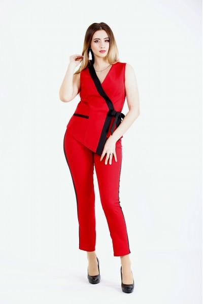 Фото Красный модный костюм | 01135-1
