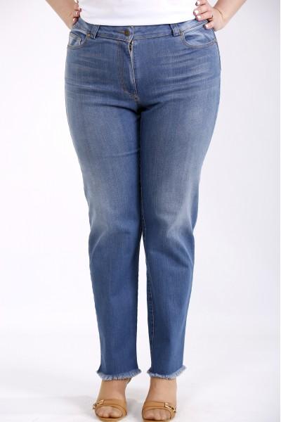 Фото Синие джинсы немного расширенные | j052