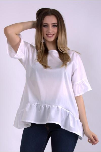 Фото Белая удобная блузка | 01138-1