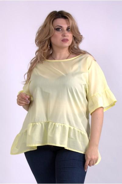 Фото Желтая легкая блузка из поплина | 01138-3