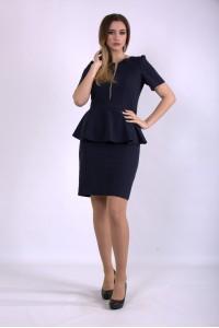 Фото Синее платье миди   01143-1