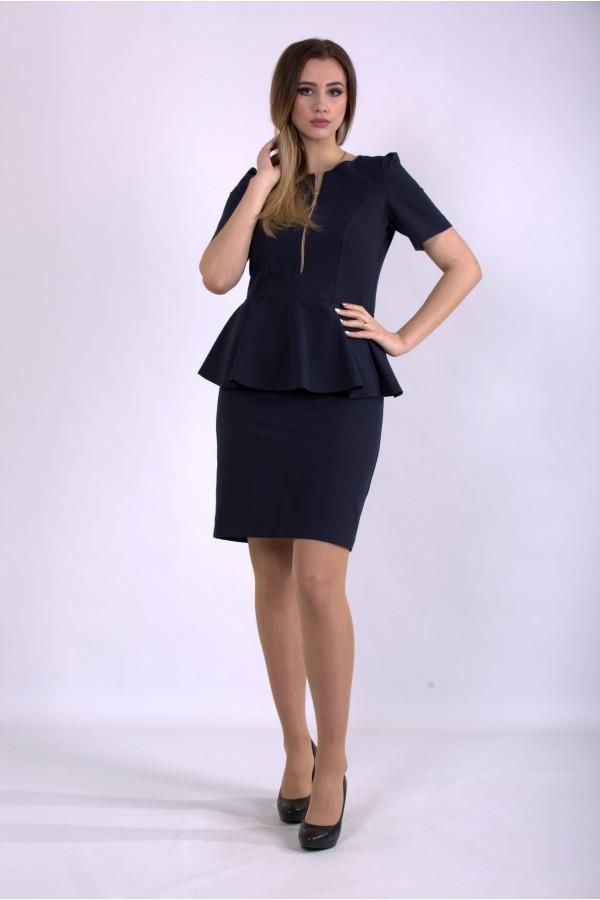 Фото Синє плаття міді   01143-1