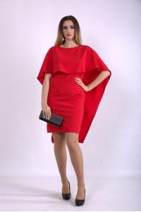 Фото Алое оригінальне плаття | 01144-1