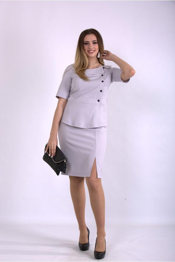 Фото Серый деловой костюм | 01145-1