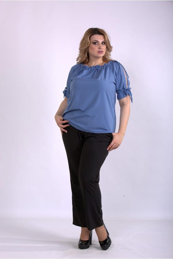 Фото Костюм: брюки и блузка джинс | 01146-1