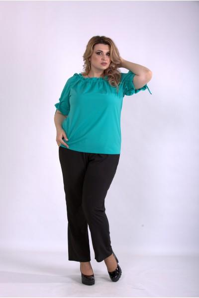 Фото Костюм: зеленая блуза и брюки | 01146-2