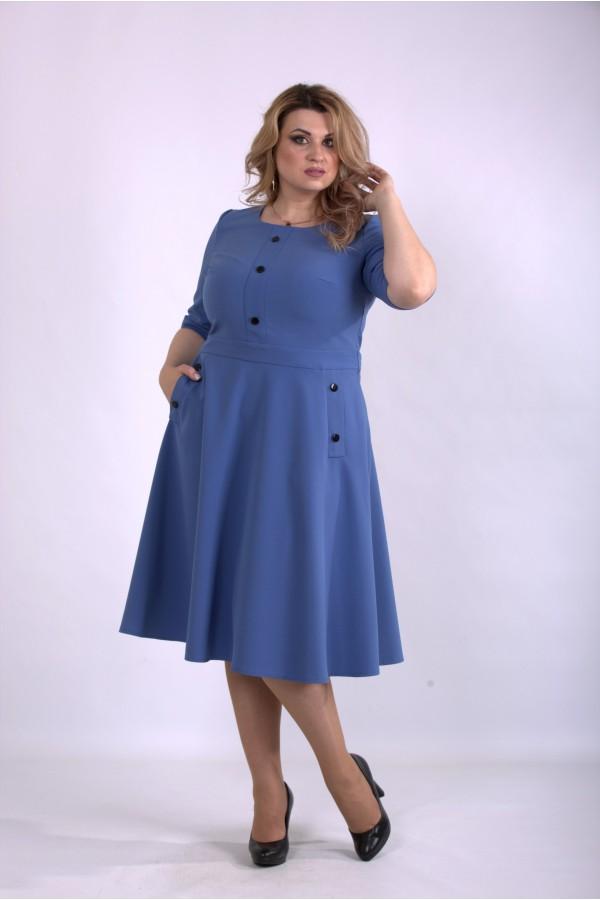 Фото Пышное платье джинсового цвета | 01148-3