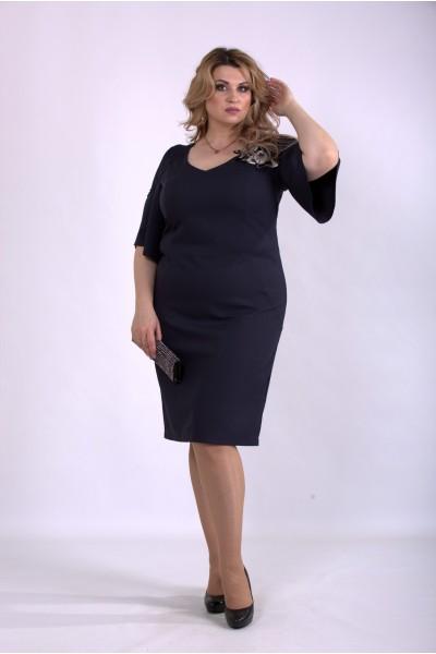 Фото Темно синее платье из костюмки | 01150-1