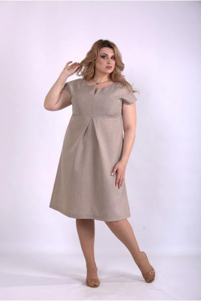 Фото Пышное платье мокко | 01154-3