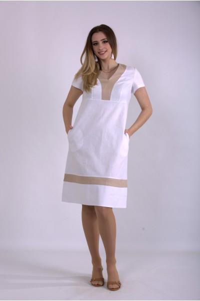 Фото Белое легкое платье | 01155-1