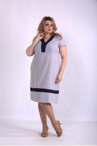 Фото Серое платье из льна | 01155-3