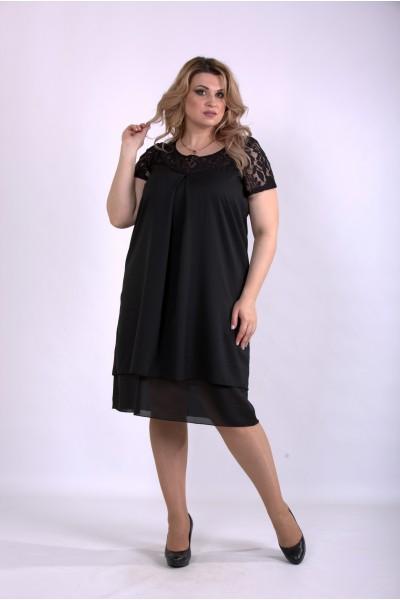 Фото Черное летнее платье | 01158-2