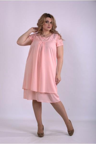 Фото Розовое летнее платье | 01158-3