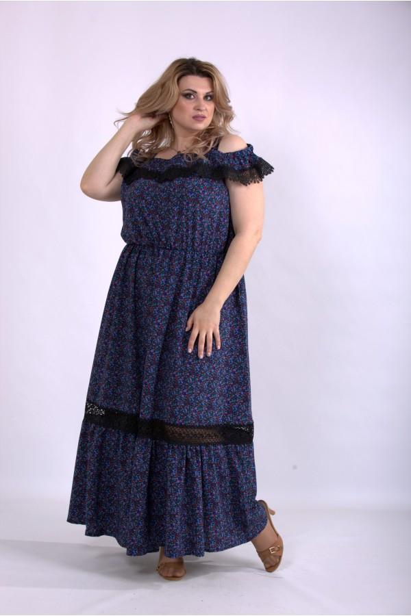 Фото Свободное платье с принтом | 01161-3