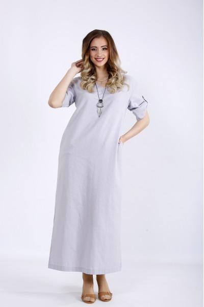 Фото Простое льняное платье | 01169-1