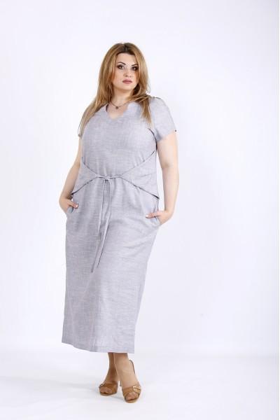 37ec8ed5e05 Фото Двухстороннее платье из льна (задом наперед можно одевать)